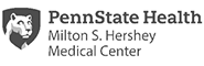 Penn State Health Milton S. Hershey Medical Center, with Penn State Nittany Lion logo