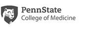 Penn State College of Medicine, with Penn State Nittany Lion logo