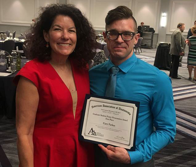 Anatomy Doctoral Student Receives Award For Poster Presentation