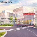 An artist's rendering of the renovated Emergency Department entrance at the Milton S. Hershey Medical Center.