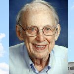 Dr. Thomas Leaman was the founding chair of the Department of Family and Community Medicine at Penn State College of Medicine. Dr. Leaman's photo pictures him wearing a collared shirt, and his photo is overlaid on an image of Penn State College of Medicine's Crescent building. The words Dr. Thomas Leaman, 1923-2016, appear at the top of the photo.