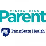 The Central Penn Parent logo is stacked just above the Penn State Health logo.