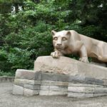 The Nittany Lion Shrine on the Penn State University Park campus on Thursday, Sept. 6, 2018.