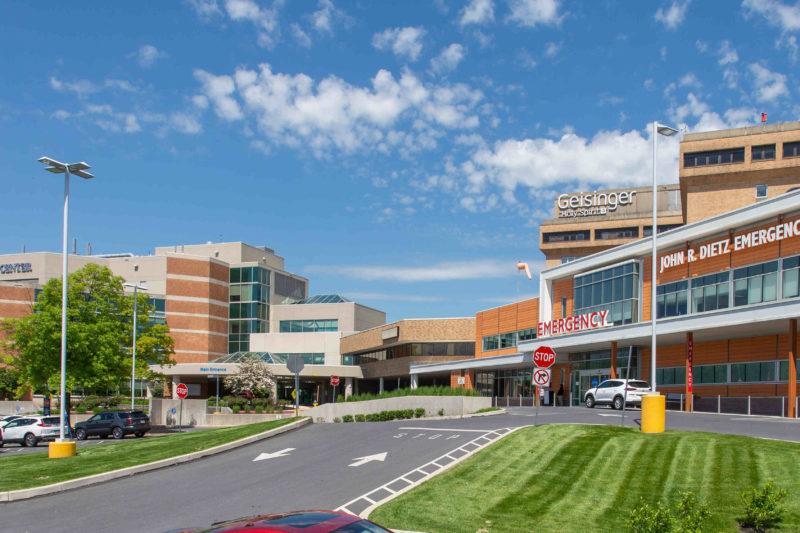An external photo of Geisinger Holy Spirit Hospital.