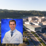 A professional headshot photo of Dr. Ian Paul, superimposed over an aerial photo of the Hershey Medical Center campus.