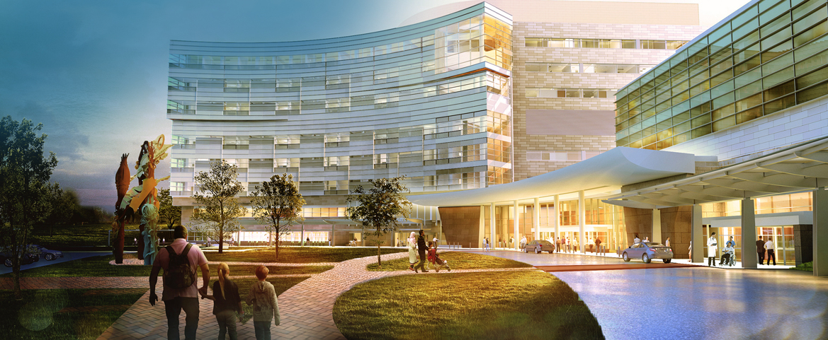 Artist rendering of our Penn State Health Children's Hospital expansion opening in Fall 2020