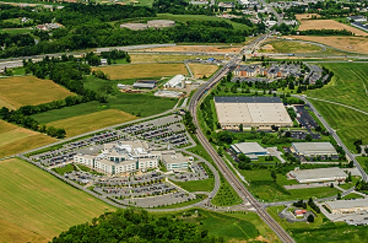 An aerial photo of St. Joseph Medical Center.
