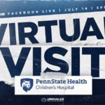 "An illustration says Virtual Visit in large letters. Above it are the words ""Facebook Live 
