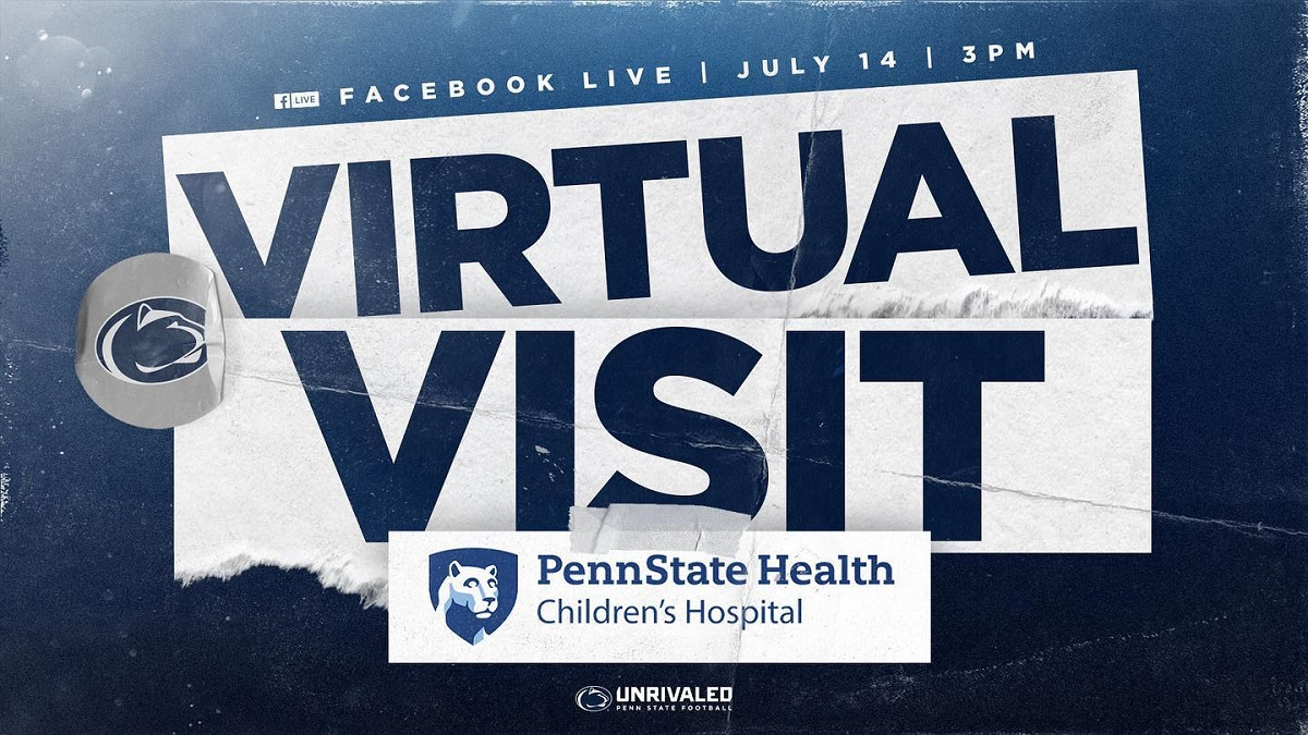"""An illustration says Virtual Visit in large letters. Above it are the words """"Facebook Live 