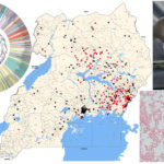 A collage image shows a map of Uganda, a DNA test, a brain scan and a photo of a person working in a lab.