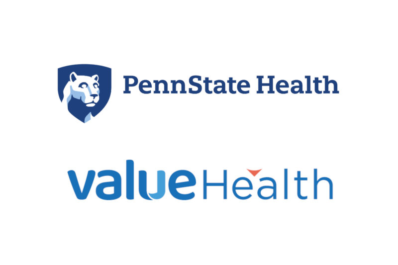 The Penn State Health logo and the ValueHealth logo appear against a plain background.