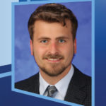 """Image shows a portrait of Dr. Christopher Bazewicz next to the words """"Our students present Exceptional Moments in Teaching Residents/Fellows."""""""