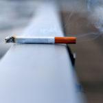 Photo shows a lit cigarette