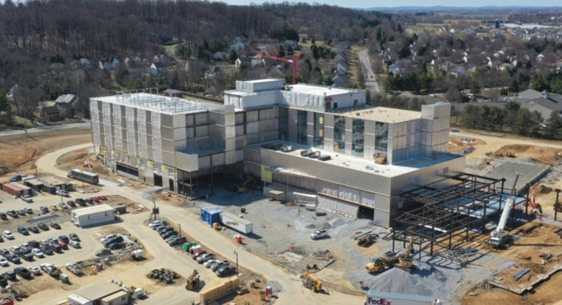 A photo of Penn State Health Lancaster Medical Center, currently under construction