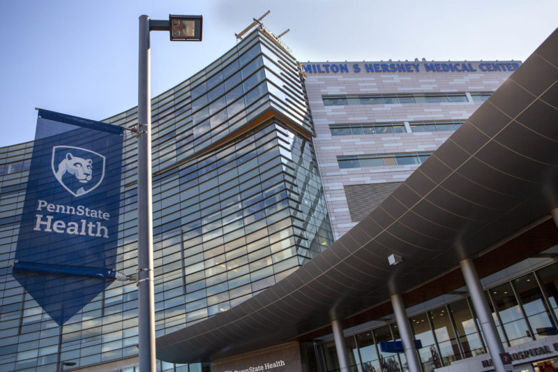 The exterior of Penn State Health Milton S. Hershey Medical Center