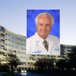 A head and shoulders professional portrait of James Connor against a background image of Penn State College of Medicine.